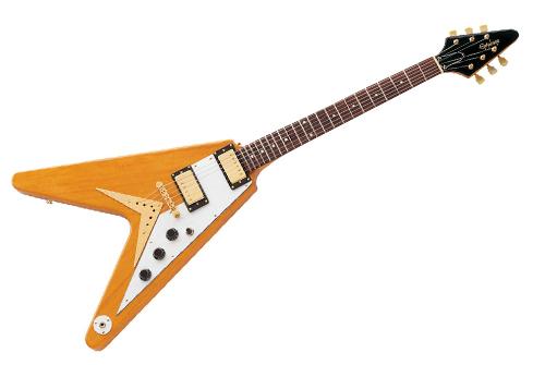 Guitarra Epiphone Flying V Korina Gold